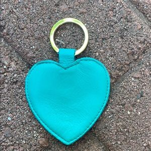 American Apparel heart keychain leather NEW